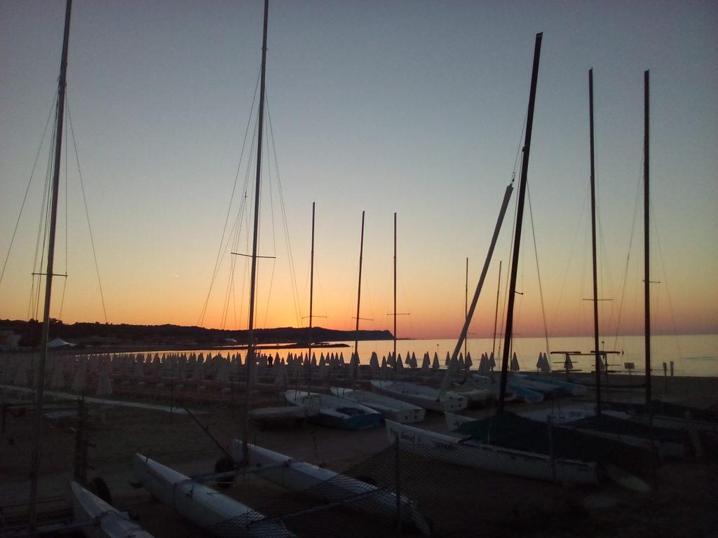 La spiaggia Lido al tramonto
